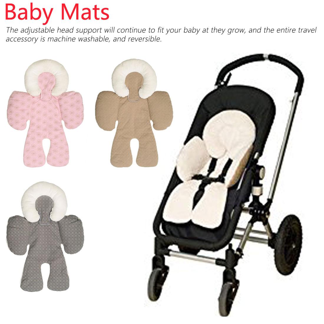 Baby Stroller Cushion Car Seat Accessories Pram Thermal Mattress Liner Mat Infant Shoulder Belt Strap Cover Neck Protection Pad