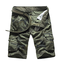 US Size New Camouflage Loose Cargo Shorts Men Cool Summer Military Camo Short Pants