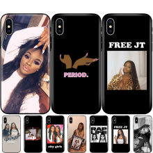 Black tpu case for iphone 5 5s se 6 6s 7 8 plus x 10 silicon cover for iphone XR XS 11 pro MAX case YUNG MIAMI JT CITY GIRLS(China)