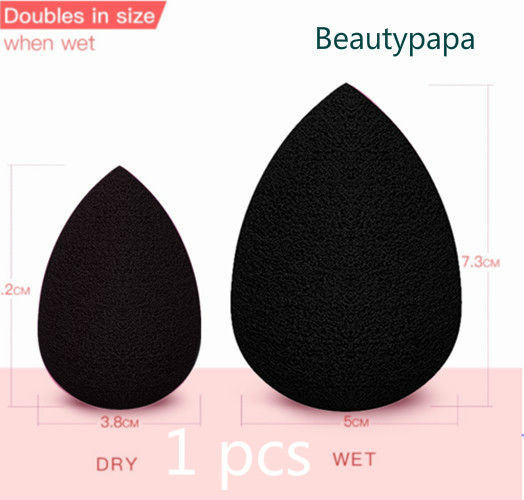 BeautyPaPa aplicador de maquillaje negro Blender Super suave esponja polvo licuadora base suave Contorno de mezcla Puff