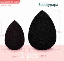 Beautypapa beleza preta maquiagem aplicador super macio esponja em pó liquidificador suave fundação contorno mistura sopro