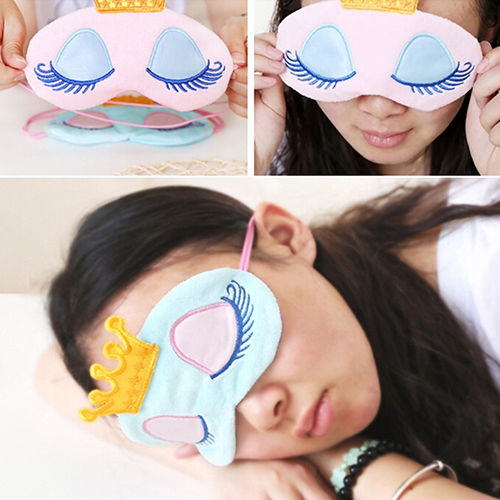 2019 New Fashion Hot Popular Earnest Cute Eyes Cover Crown Style Travel Sleeping Blindfold Shade Eye Mask