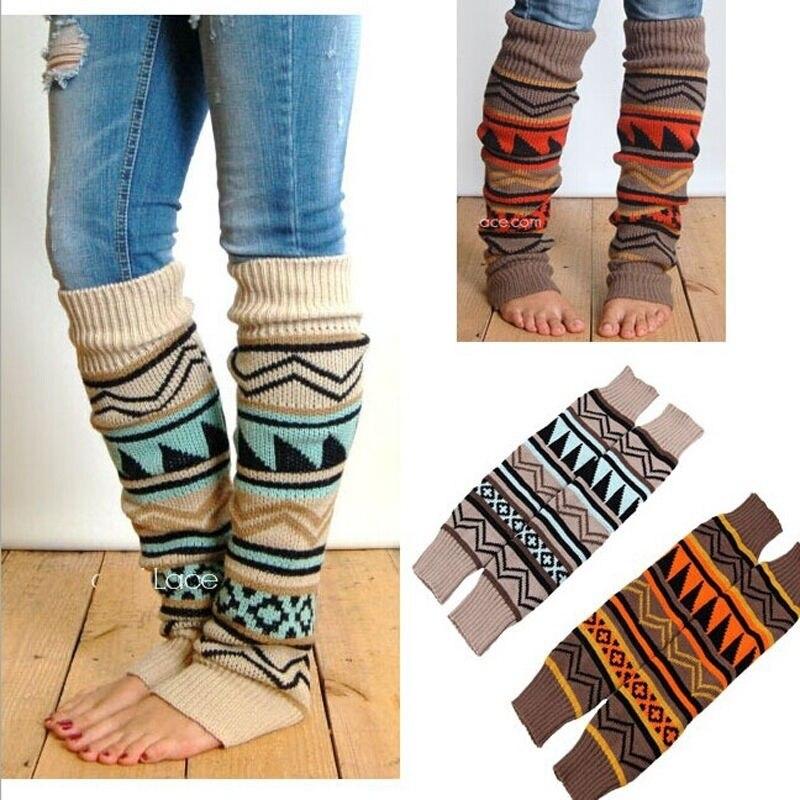 Hirigin Sexy Leg Warm Knitted Knee Sleeve For Women Winter Warm Accessores Christmas Socks 1 Pairs Holiday Fun Stocking Stuffers