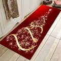 LANGRIA Fashion Home Decor wzór choinki antypoślizgowy dywan do składania dywanik łazienkowy