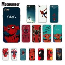 Marvel Comics Spider-Man Spider Man Customer Phone Case For IPhone 8 7 6 6S 6Plus X XS MAX 5 5S SE XR Cover 11 Pro Max spider man into the spider verse for funda iphone xs max case cover for case iphone 6s plus 5 5s se 6 7 8 plus xr x cases cover