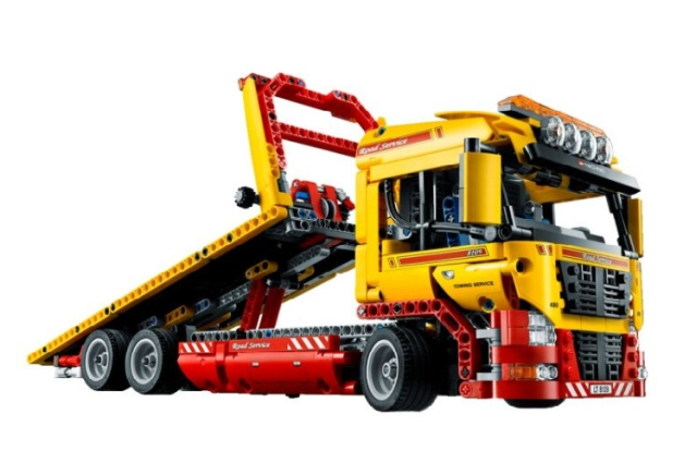 NEW 20021 technic series 1143pcs Flatbed trailer Model Building blocks Bricks Compatible Toy Gift Educational Car 8109 image