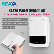 SEAYA Smart Switch Bot Wireless Remote Control Switch Dual Control Wiring-Free Remote Control Automatically Turn Off Lights
