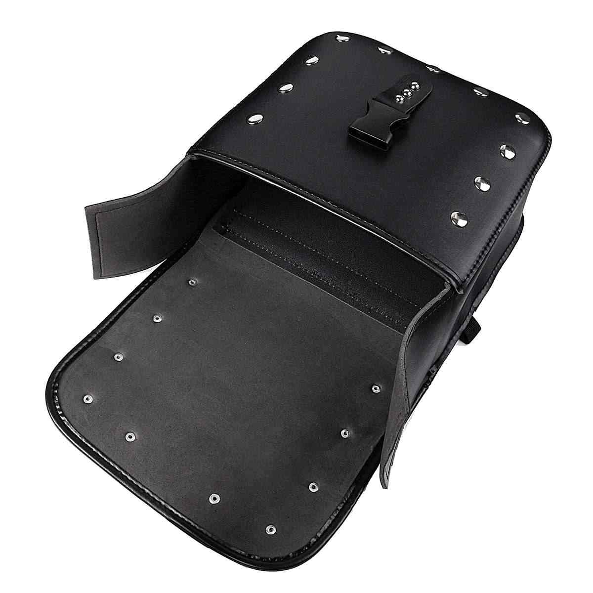 Пара Черная искусственная кожа гоночный гонки мотоцикл водонепроницаемая сумка для инструментов дорожные сумки чемодан седельный багажник с заклепками