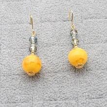 Женские новые серьги элегантная круглая подвеска из пчелиного