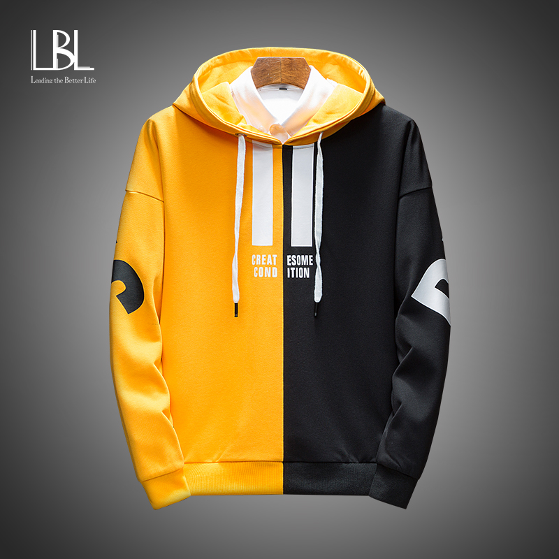 Autumn Men's Hoodies Men 2020 New Anime Graffiti Hooded Sweatshirts Male Hip Hop Harajuku Japanese Streetwear Yellow Hoodie Men