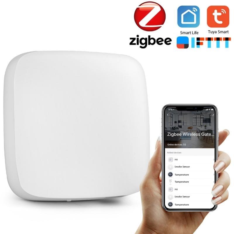 Tuya ZigBee Smart Gateway Hub Smart Home Bridge Smart Life APP Wireless Remote Controller Works Alexa Google Home Motion Sensor