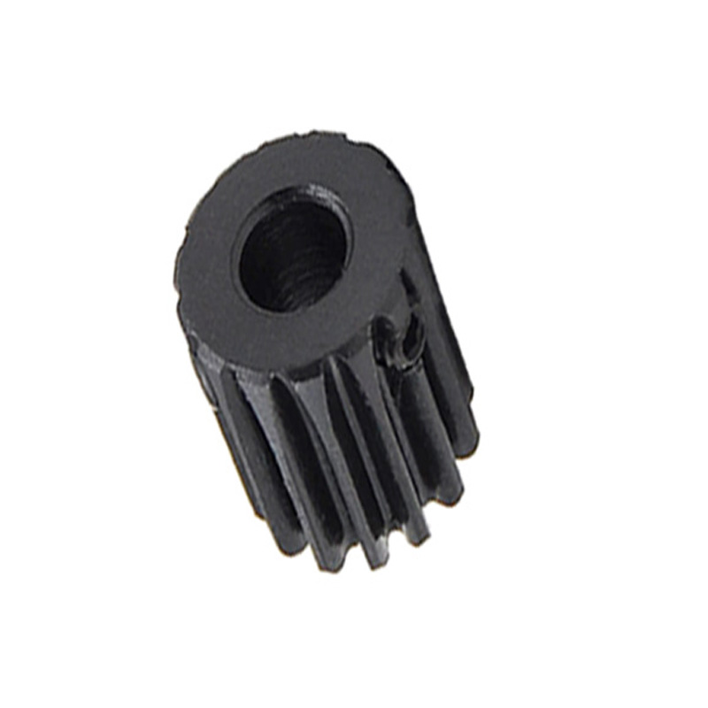 1/2/5/10/20PCS 1M 12T Spur Gear Pinion Bore 6mm Surface Black Motor Pinion Gear Mod 1 Tooth 12 Outer Diameter 14mm 45#Steel