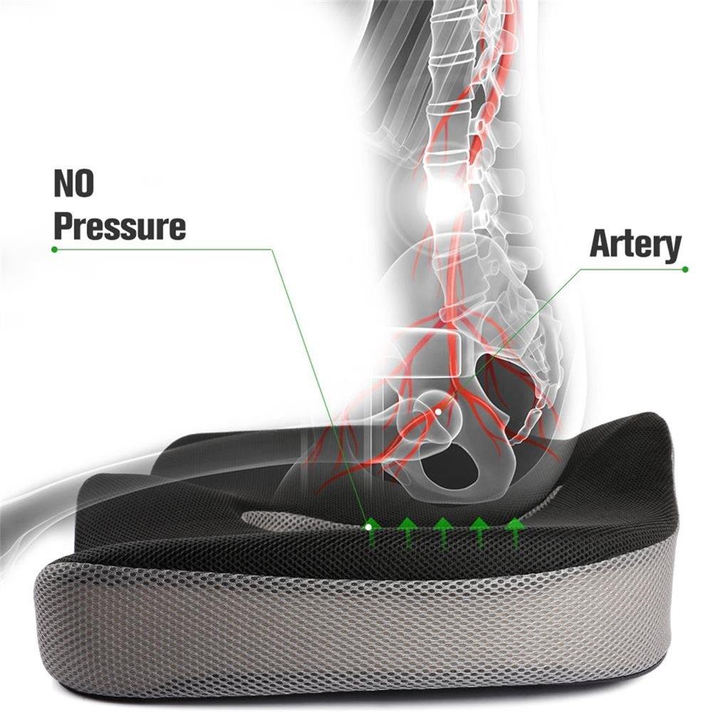 Coccyx وسادة مريحة لتقويم العظام مع رغوة الذاكرة لمقعد السيارة أسفل الظهر عظم الذيل البواسير الطبية Seat Cushion Memory Foam Chairseat Cushions For Chairs Aliexpress