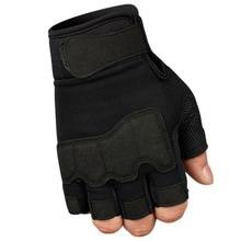Походные перчатки, противоскользящие спортивные перчатки для альпинизма, фитнеса, вождения, армейские военные тактические жесткие перчатки на полпальца, новинка