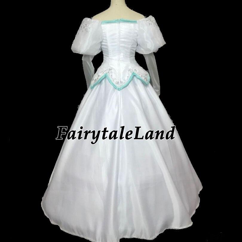 The Little Mermaid Ariel Wedding Dress Fancy Carnival Halloween Costumes Adult Ariel Costume White Dress Veil Custom Made Aliexpress,Wedding Pakistani Women Dress