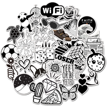 50 PCS Black And White Vsco Stickers For Chidren font b Toy b font Waterproof Sticker