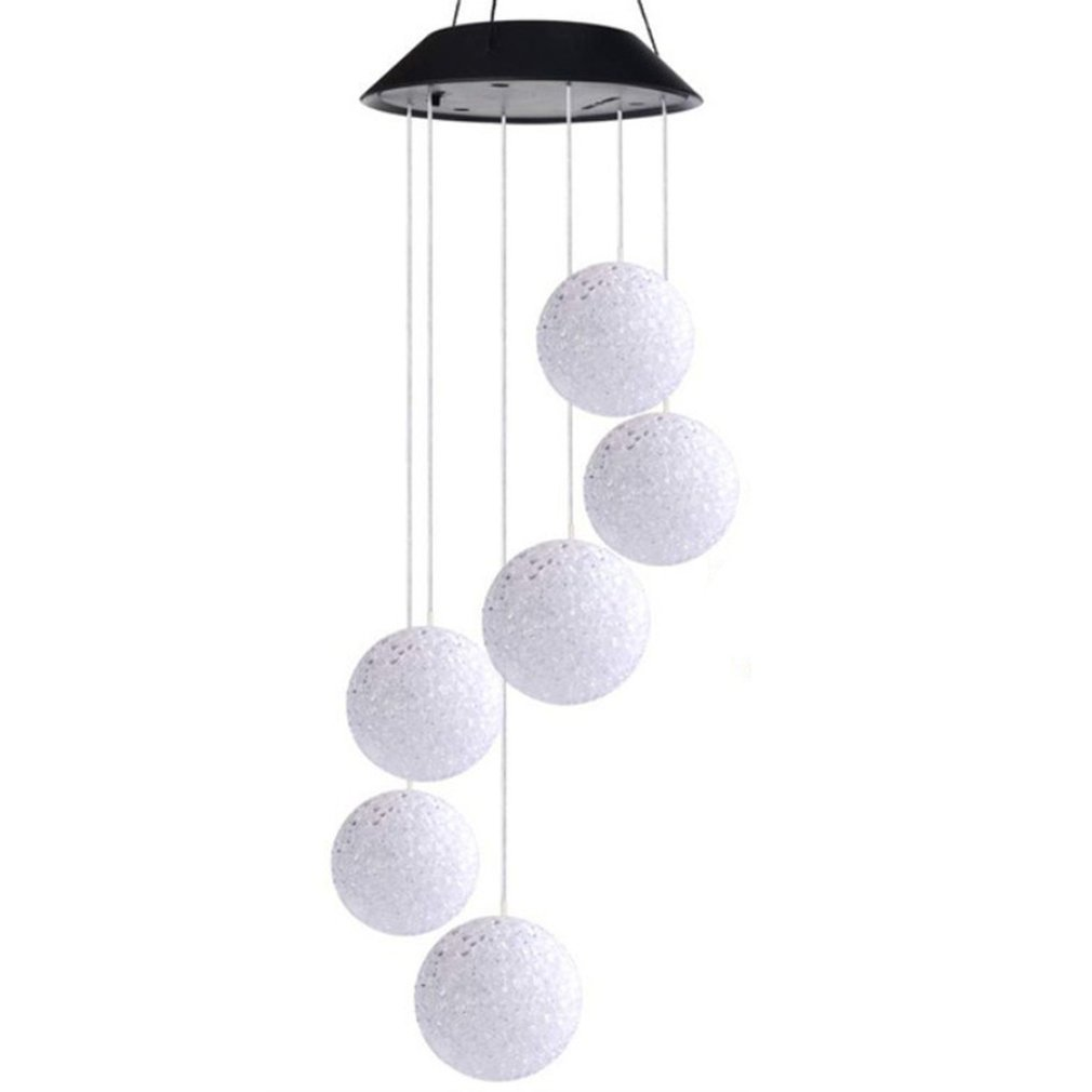 LED Solar Powered Wind Chimes Color Changing Light Home Garden Romantic Hanging DIY Lamp Decor Pendant