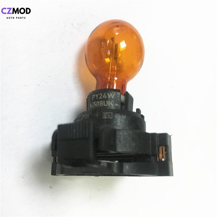 CZMOD Original PY24W 12V 24W Amber Car Front Rear Indicators Bulb E4 PY24W 1300610092 Car Light Accessory(Used)