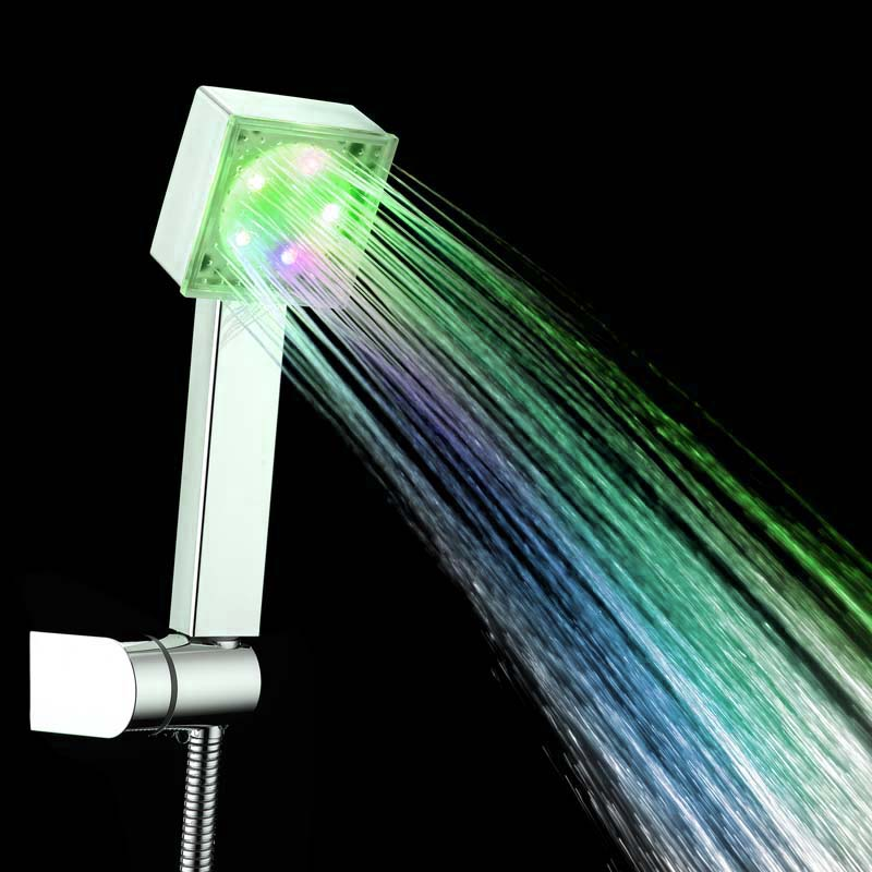 Adjustable Creative Led Shower Head Colorful Head Bathroom 7 Colors Changing LED Shower Faucet Water Glow Light Water Saving