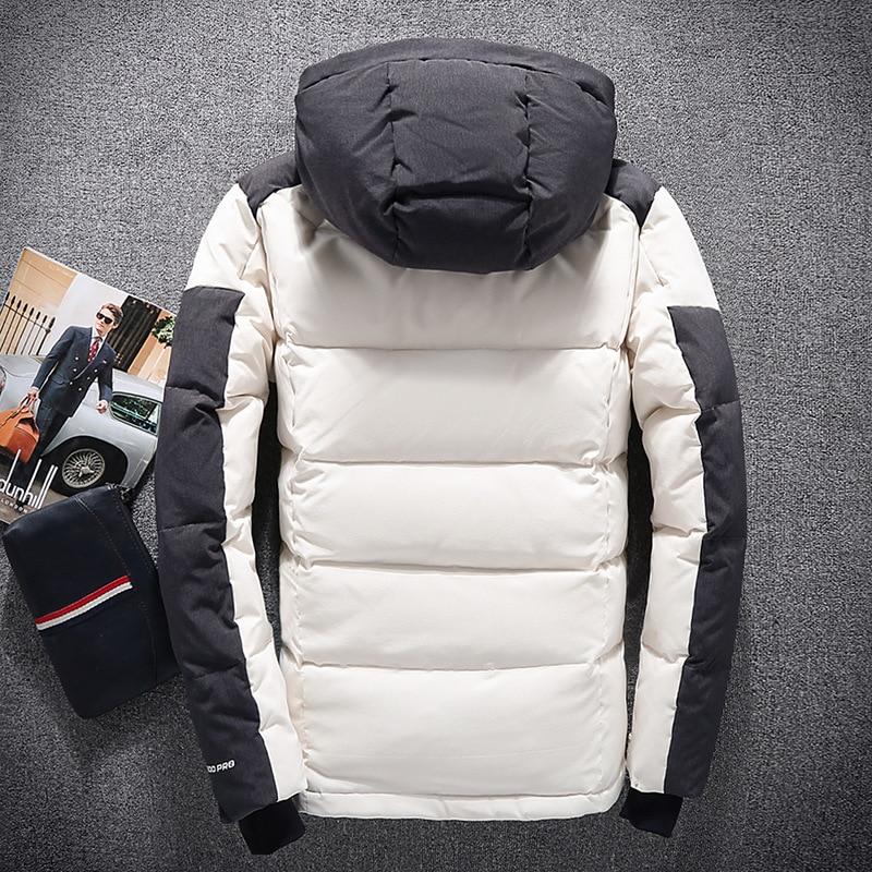 2020 White Duck Down Jacket Men Casual Men's Winter Jackets Down Coat Detachable Hat Parka Abrigos Para Hombre KJ793