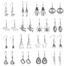 Modyle New Fashion Punk Vintage Skeleton Skull Dangle Earrings for Women Jewelry Party Halloween Gifts