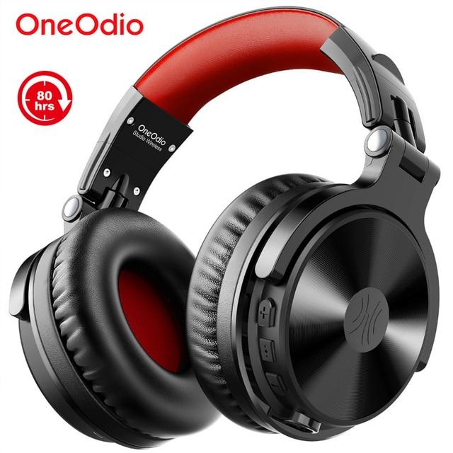Беспроводная гарнитура Oneodio 80h, Bluetooth 5,0, проводные Игровые наушники с микрофоном для ПК, PS4, колл центра, офисные наушники для Skype