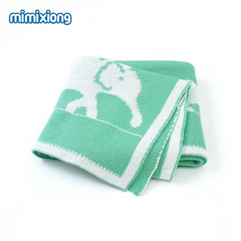 Baby Blankets Super Soft Newborn Swaddle Wrap 100*80cm Toddler Infant Sofa Crib Bedding Blankets Cute Elephant Children's Quilts