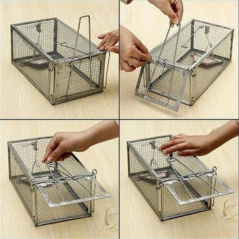 30*12*24cm Cage Animal Trap Steel Cage Mouse Control Catch Squirrel Hamster