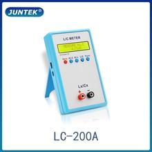 JUNTEK LC-200A Digital LCD Capacitance  Inductance Meter  LC Meter 1pF-100mF 1uH-100H