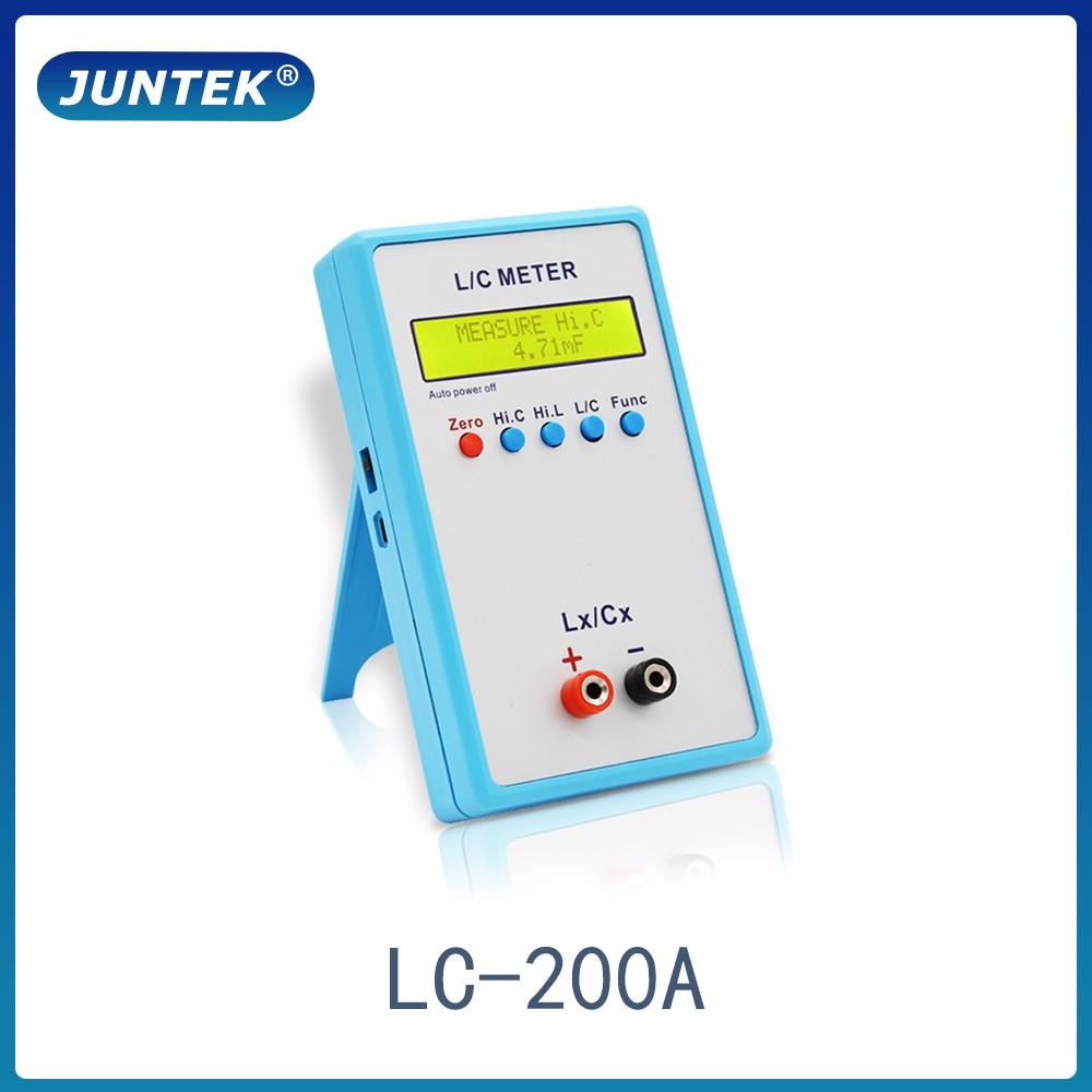 Измеритель емкости и индуктивности JUNTEK LC-200A Digital LCD, измеритель индуктивности LC 1pF-100mF 1uH-100H
