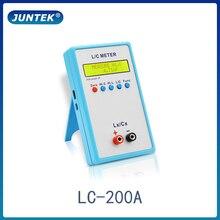 JUNTEK LC 200A cyfrowy LCD pojemność indukcyjność miernik miernik LC 1pF 100mF 1uH 100H