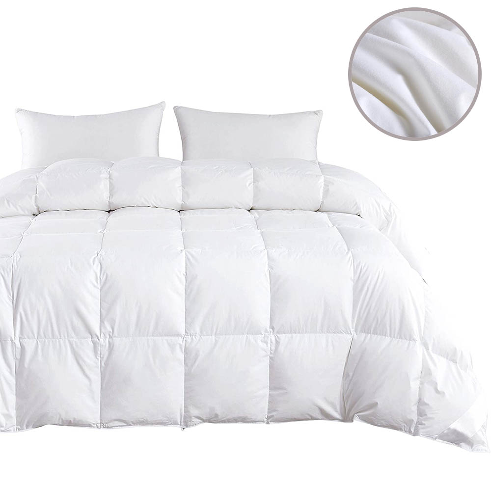 Hot sale 95 % White Goose/Duck Down Quilt Duvets Thickening Winter Comforters 100% Cotton Cover King Queen Twin Full Size