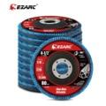 EZARC 10 Pcs Set Flap Discs 115mm T29 Zirconia Grinding Wheels 40 / 80 Grit Professional Flap Discs Sanding for Angle Grinder