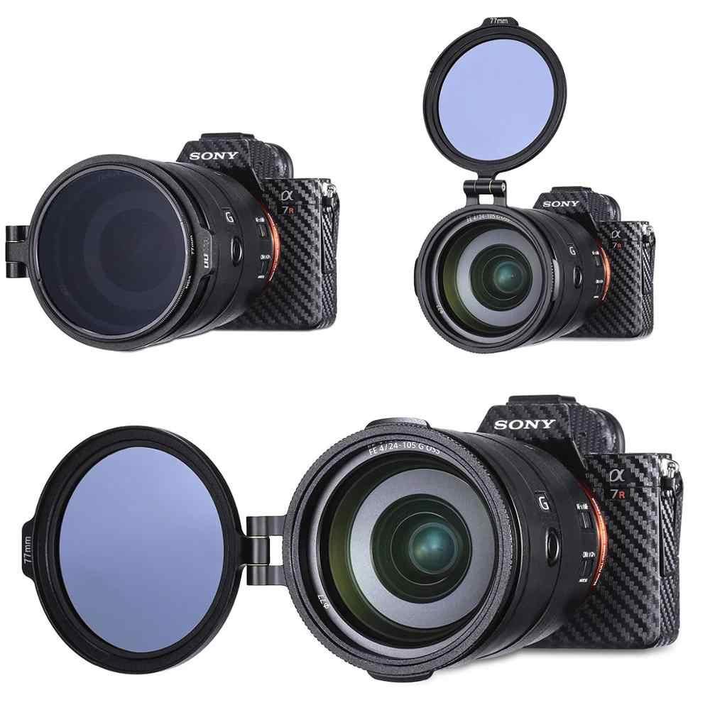 Filter ND Rilis Cepat Cincin Lensa DSLR Flip Mount Filter Cepat Beralih Bracket untuk 58 Mm 67 Mm 72 Mm 77 Mm 82 Mm SLR Lensa Adaptor Flip