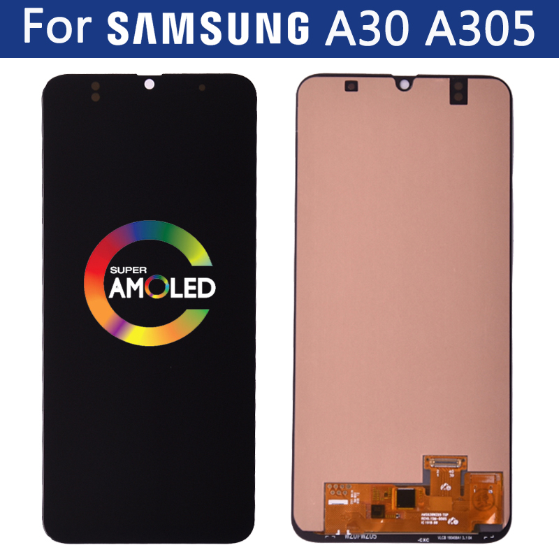 AMOLED display for <font><b>Samsung</b></font> galaxy <font><b>A30</b></font> <font><b>LCD</b></font> A305/DS A305F A305FNA305FD A305A A305GT <font><b>lcd</b></font> Touch Screen Digitizer Assembly Part image