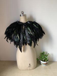 Image 5 - ruthshen real image Evening Dress Cape Stole Feather Wraps Shrug Bolero Coat Shawl Scarf