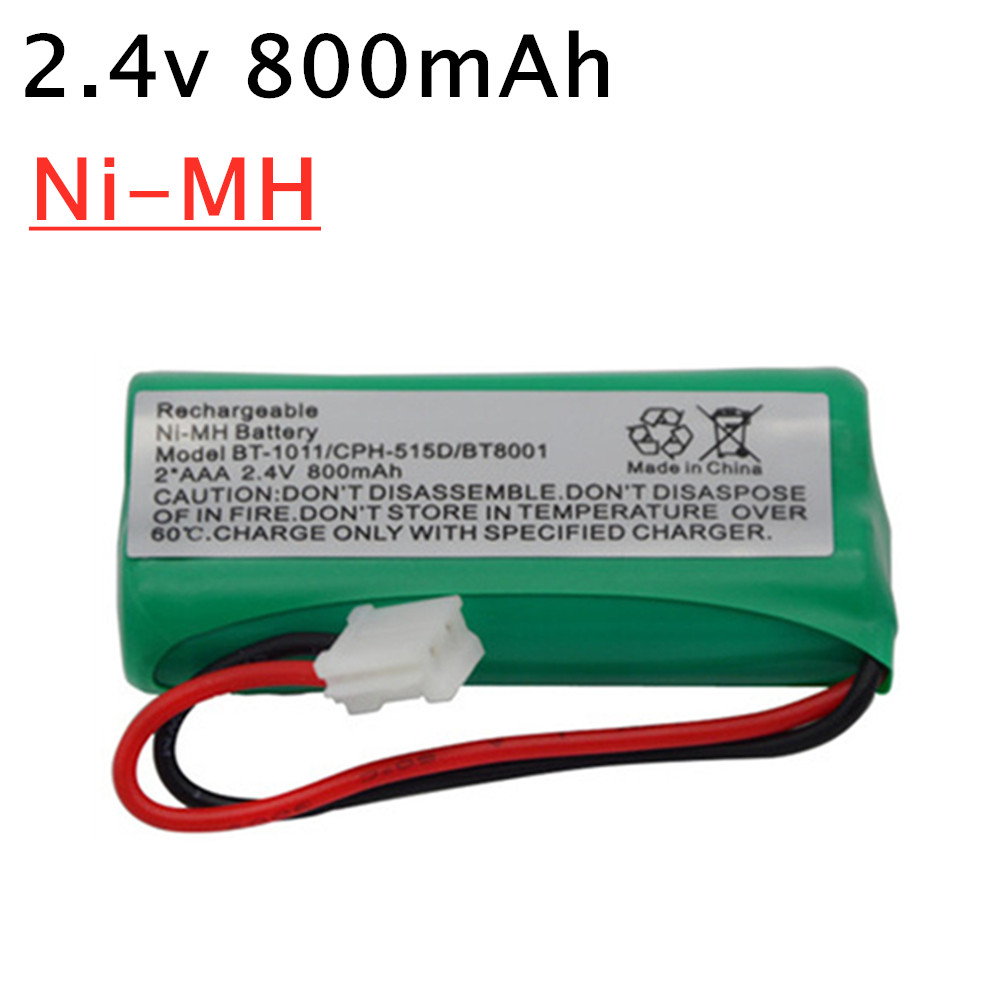 2.4V 800mAh NiMH Cordless Phone Battery for Uniden BT-1011 BT-1018 BT1011 BT1018 BT8001 BT-694 2.4V Rechargeable Battery 1-20pcs