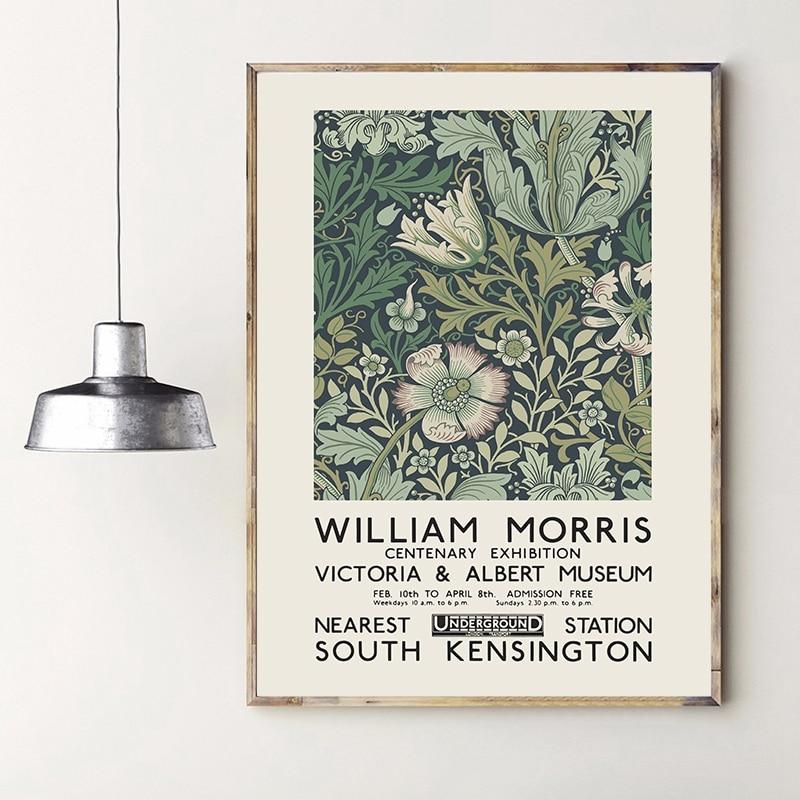 William Morris impression sur toile le musée Victoria et Albert affiche dexposition londres souterrain Art Nouveau peinture décoration murale