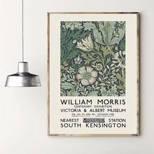 Peinture sur toile imprimée de William Morris, affiche d'exposition du musée Victoria et alice, décor mural d'art souterrain de londres