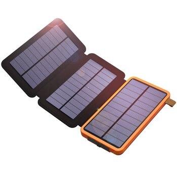 Cargador de teléfono Solar 10000mAh cargador de teléfono de Banco de potencia Dual USB para iPhone 4S 5 5S SE 6 6s 7 7plus iPad Samsung s7 s8 HTC LG Sony