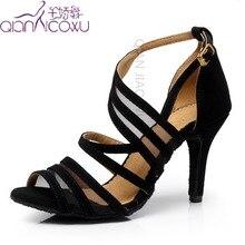 Direto da fábrica salsa jazz ballroom latin sapatos de dança para a dança mulheres formação dançarinos dança salto elegante sandálias pretas 7036