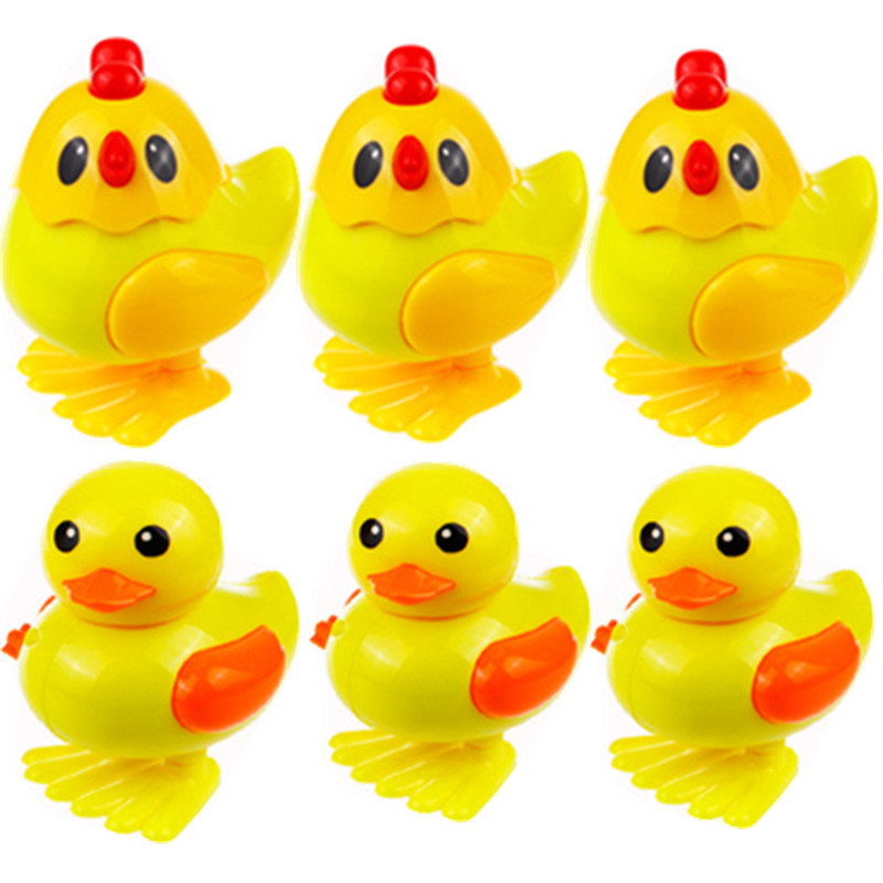 Small Xing Winding Toy Spring Chicken Jumping Chicken Chain Small Yellow Chicken Small Yellow Duck Stall Supply Of Goods Toy Who