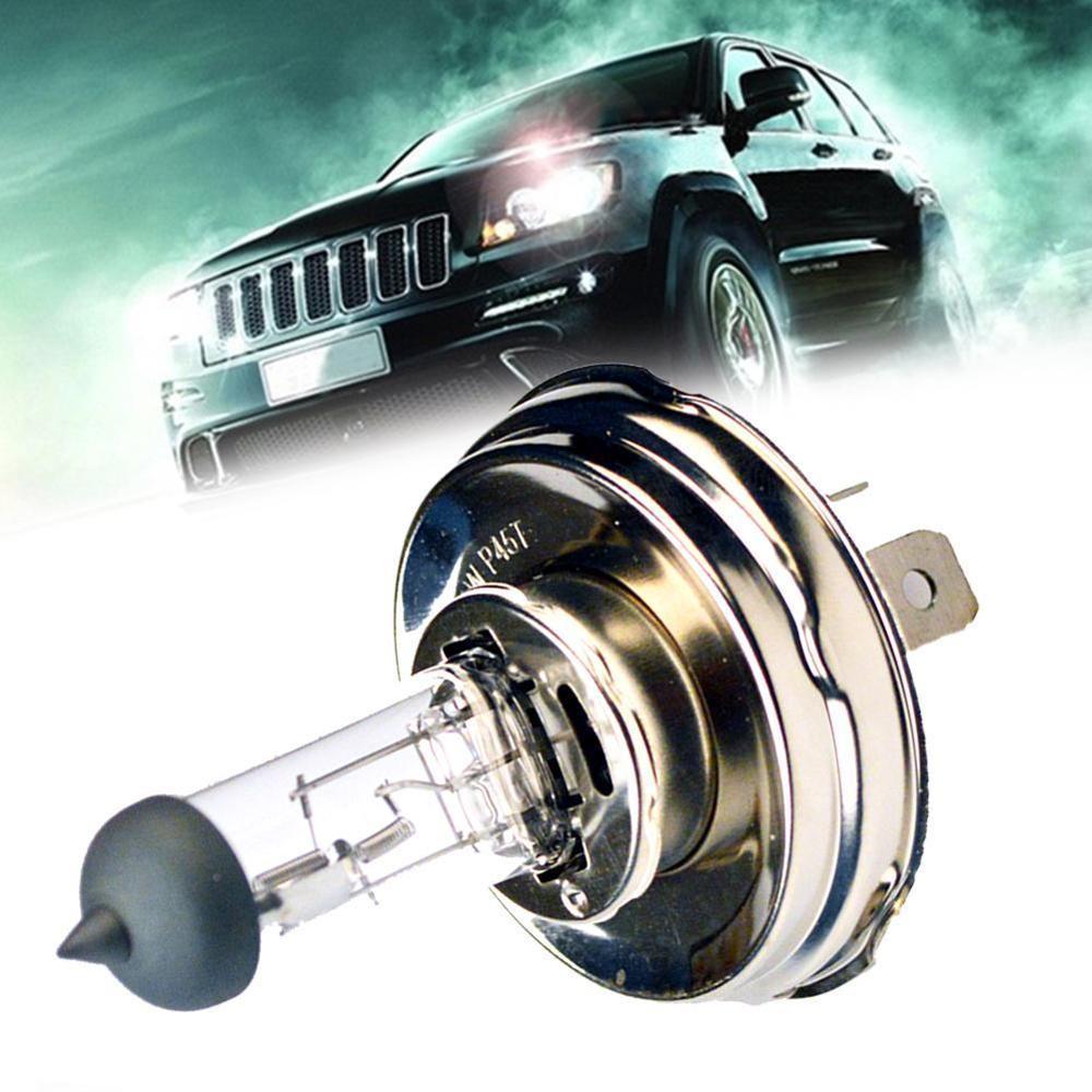 Luz de coche 1 Uds H4 P45T 12V 50 W/100 W faros de cristal transparente 2500LM bombillas de coche lámparas halógenas