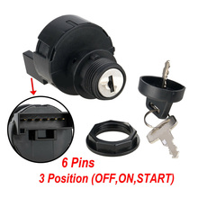 2pcs Auto Ignition Key Switch Replace 3-Position 6-Point Pin 4010102 4012165 Car
