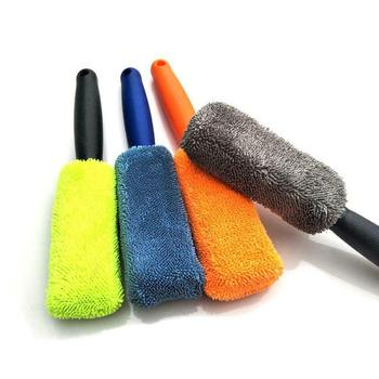 For Car With Plastic Handle Washing Cleaner Car Accessories Universal Car Cleaning  Portable Microfiber Wheel Tire Rim Brush 1