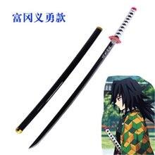 Kimetsu não yaiba espada arma demônio assassino tomioka yoshio cosplay espada 1:1 anime ninja faca plutônio 104cm arma prop