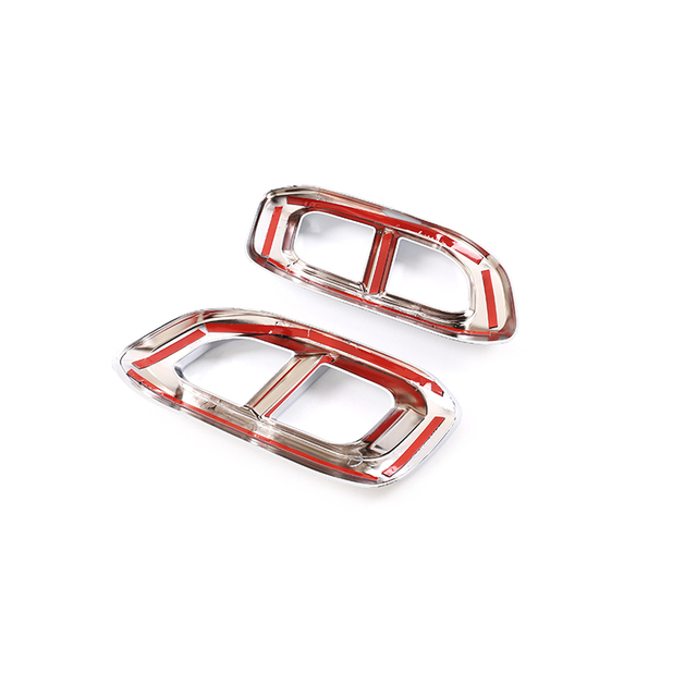 2pcs Car Muffler Exhaust Pipe Tail Cover Trim Exterior Accessories For Mercedes Benz GLE 350 GLE 450 GLC GLS W167 X253 X167 2020 6