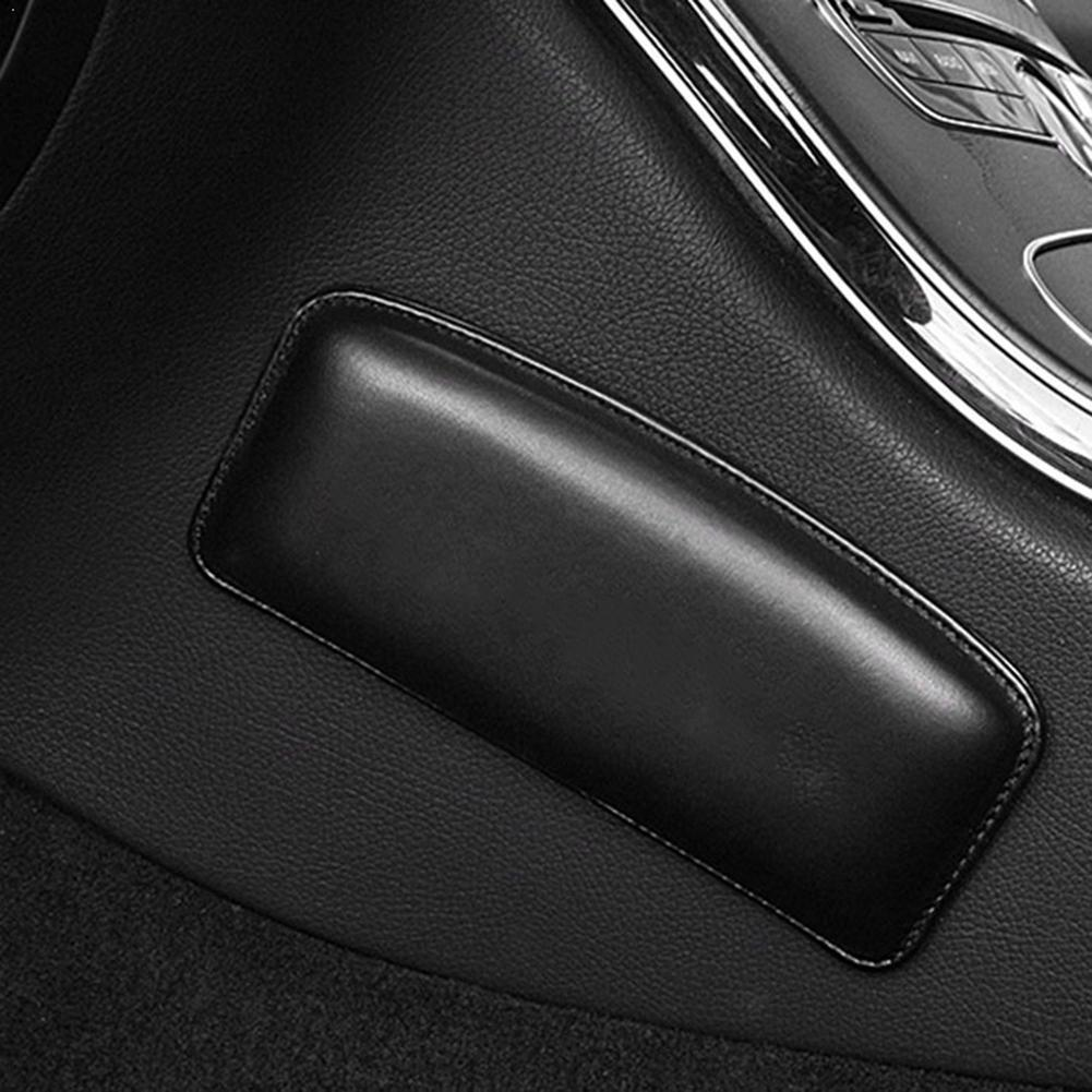 Leather Knee Pad For Car Interior Pillow Comfortable Thigh Universal Suppot Accessories 18X8.2cm Elastic Cushion Foam Memor P7S0
