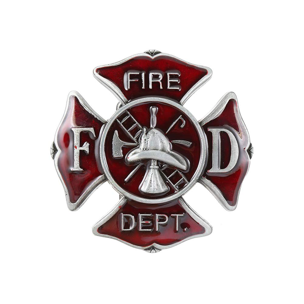 Fire Dept Belt  Buckle For Man Western Cowboy Buckle Without Belt Custom Alloy Width 4cm