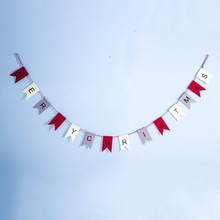 MERRY CHRISTMAS Letter Banners Bunting Garlands For Holiday Party Decoration Christmas Tree Supplies Home Decor